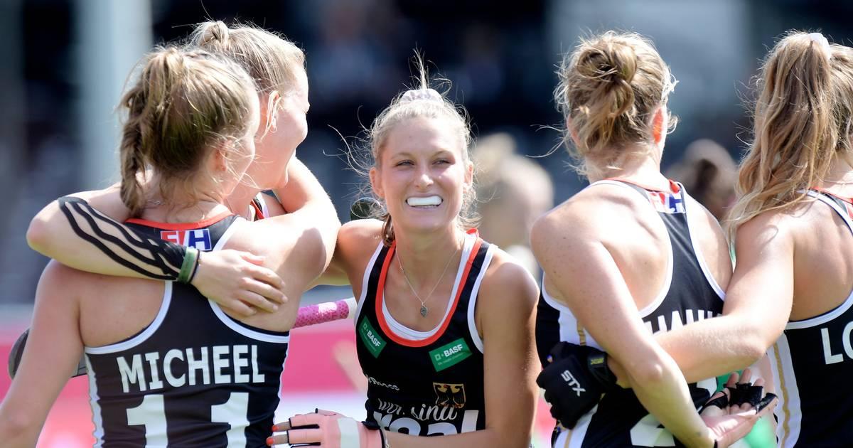 Hockey-EM in Antwerpen:Deutschlands Frauen zittern sich ins Halbfinale