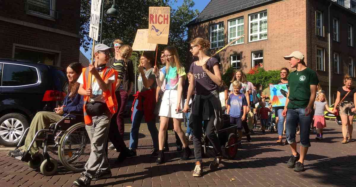 Erste Fridays-for-Future-Demo in Rees