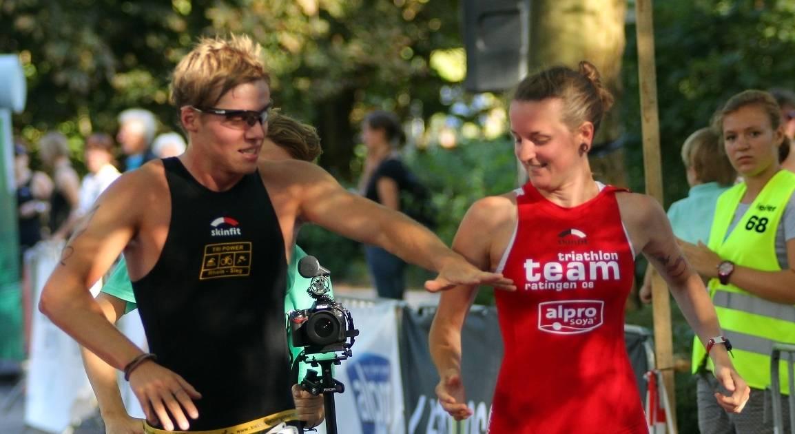 Svenja Bock und Jan Fischer lernten sich beim Ratingen Triathlon kennen