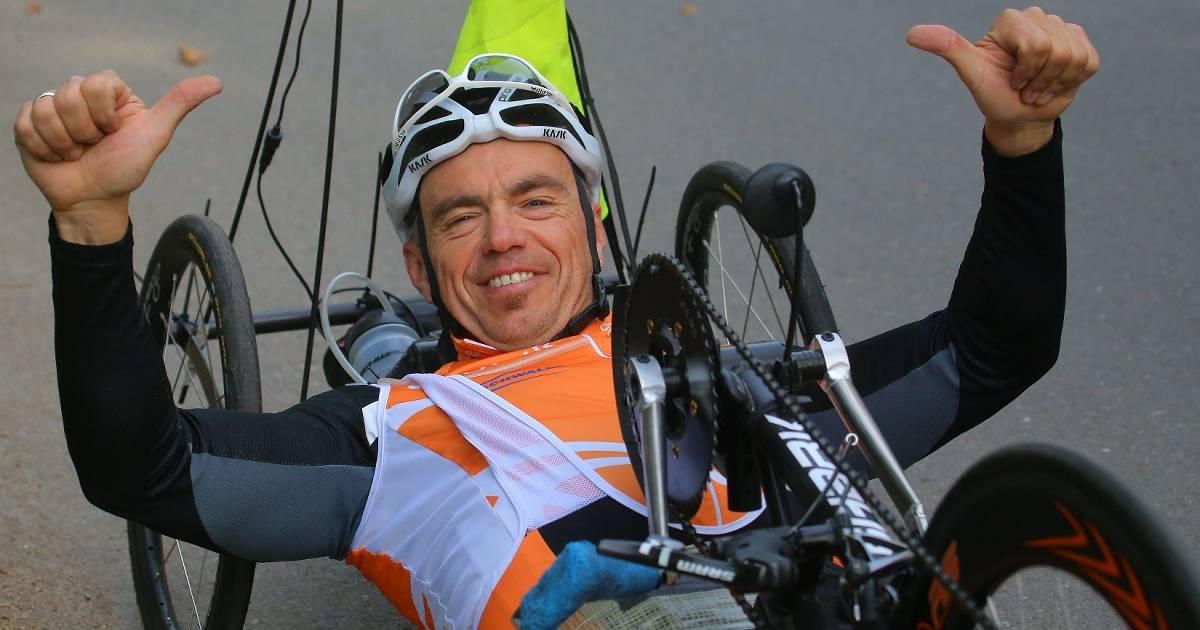 Drazen Boric aus den Reihen des SC Union Nettetal bei der Handbike-WM in Emmen