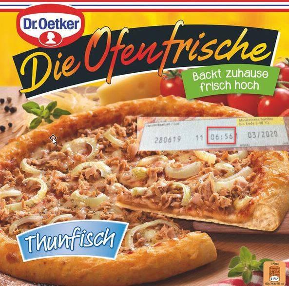 """Dr. Oetker warnt vor Verzehr von """"Die Ofenfrische""""-Thunfisch-Pizza"""