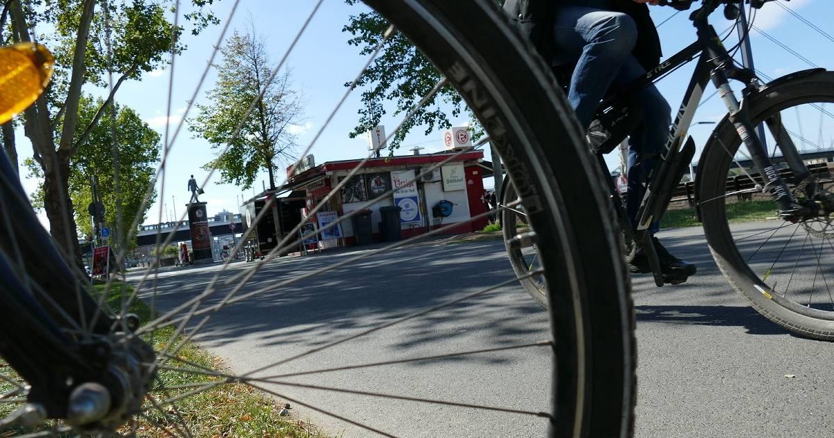 Düsseldorf: Radfahren am Rhein, die Uerdinger Runde
