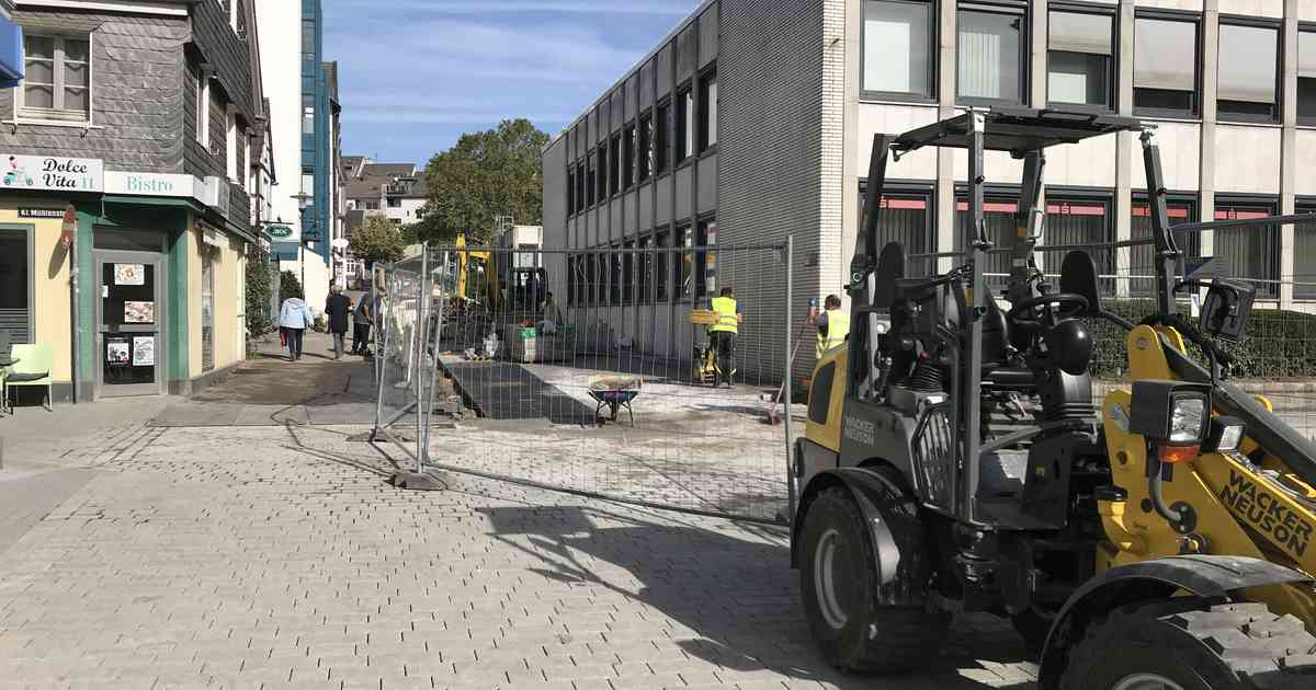 Stadt: Bauarbeiten im Zeitplan