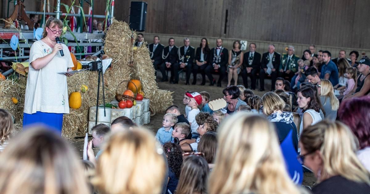 St.-Josef-Gemeinde feiert Erntedank auf dem Hoogenhof in Kamp-Lintfort.