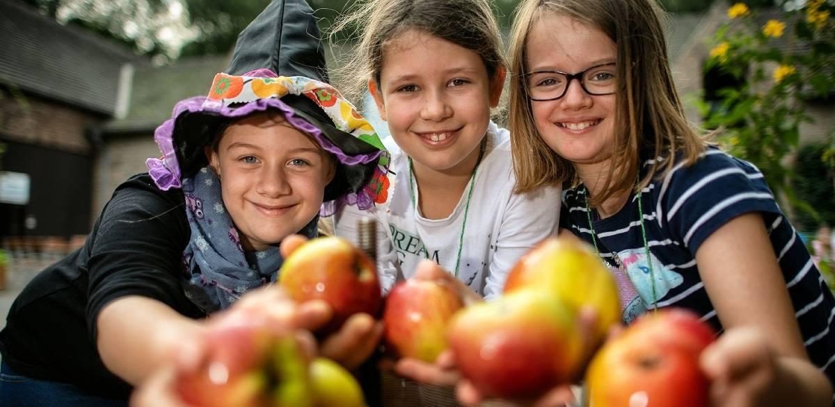 Herbstaktion mit der Apfelhexein Leverkusen