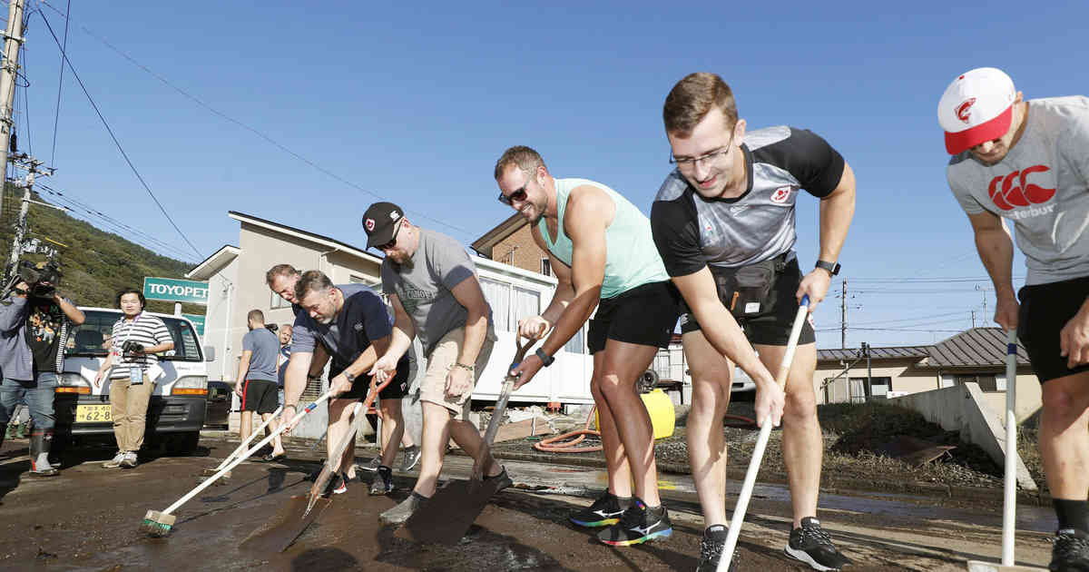 Kanadas Rugby-Team hilft bei Aufräumarbeiten nach Wirbelsturm