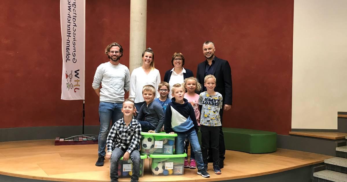 Innogy übergibt Bewegungspakete an Grundschule Sonsbeck