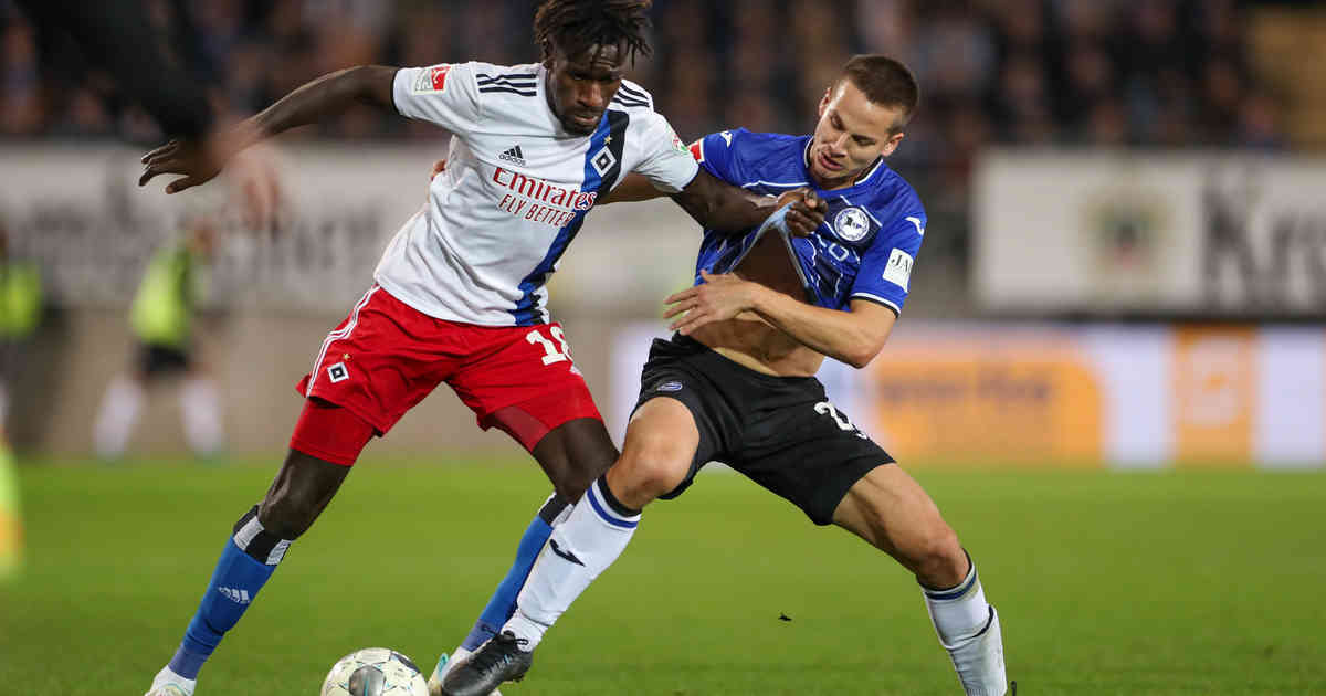 2. Bundesliga: Hamburg bleibt nach 1:1 in Bielefeld Tabellenführer