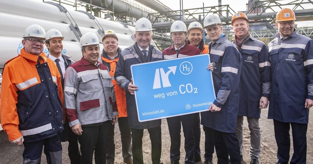 Thyssenkrupp in Duisburg setzt Wasserstoff im Hochofen ein