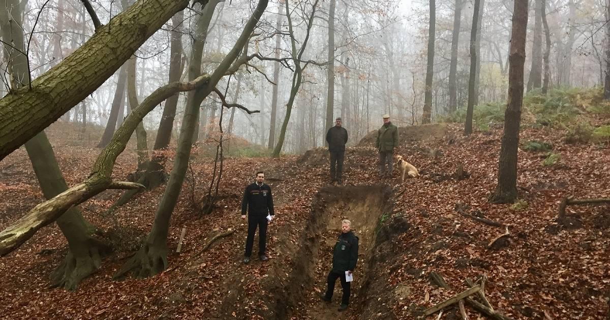 Goch/Weeze Kalbeck: Mountainbike-Strecke von Unbekannten angelegt