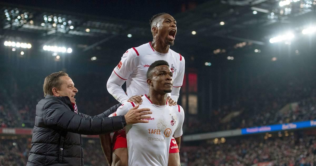 Bundesliga 1. FC Köln feiert beim Sieg gegne Bayer Leverkusen Wiederauferstehung