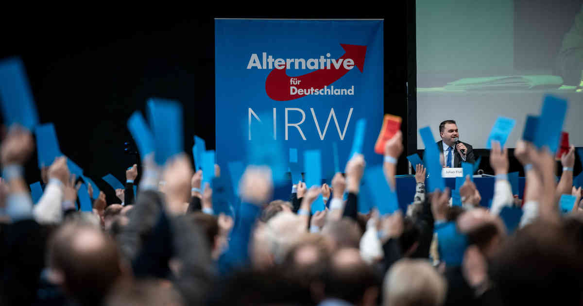 AfD-Parteitag in Marl: Partei rechnet mit mehr als zehn Prozent bei Kommunalwahl