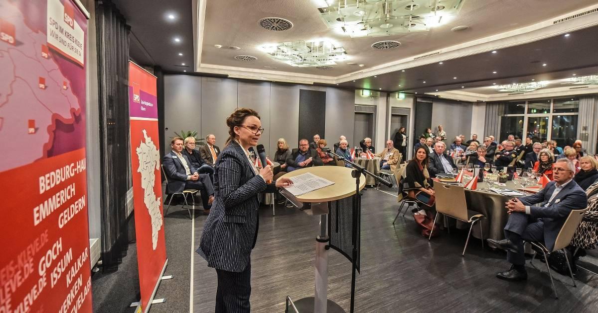 SPD-Empfang im alten Hotel Cleve: Sozialdemokraten sollen mutig und laut sein