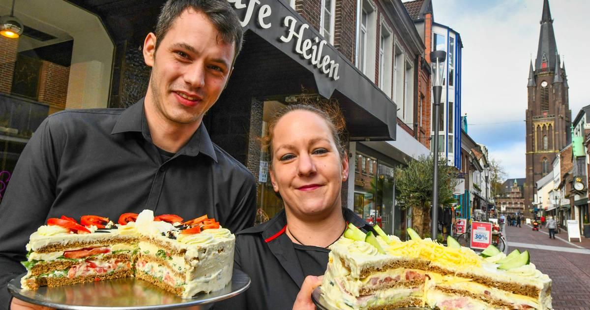Neue Spezialität in Kevelaers Café Heilen: Torte mit Schinken-Käse statt Sahne