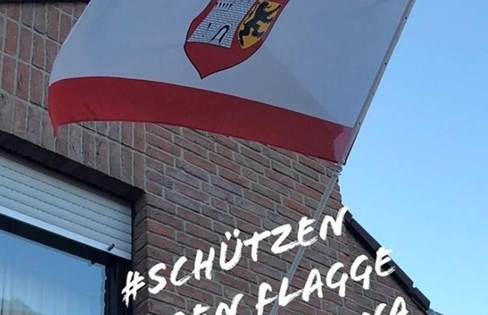 Corona-Krise in Grevenbroich: Schützen zeigen Flagge gegen das Coronavirus
