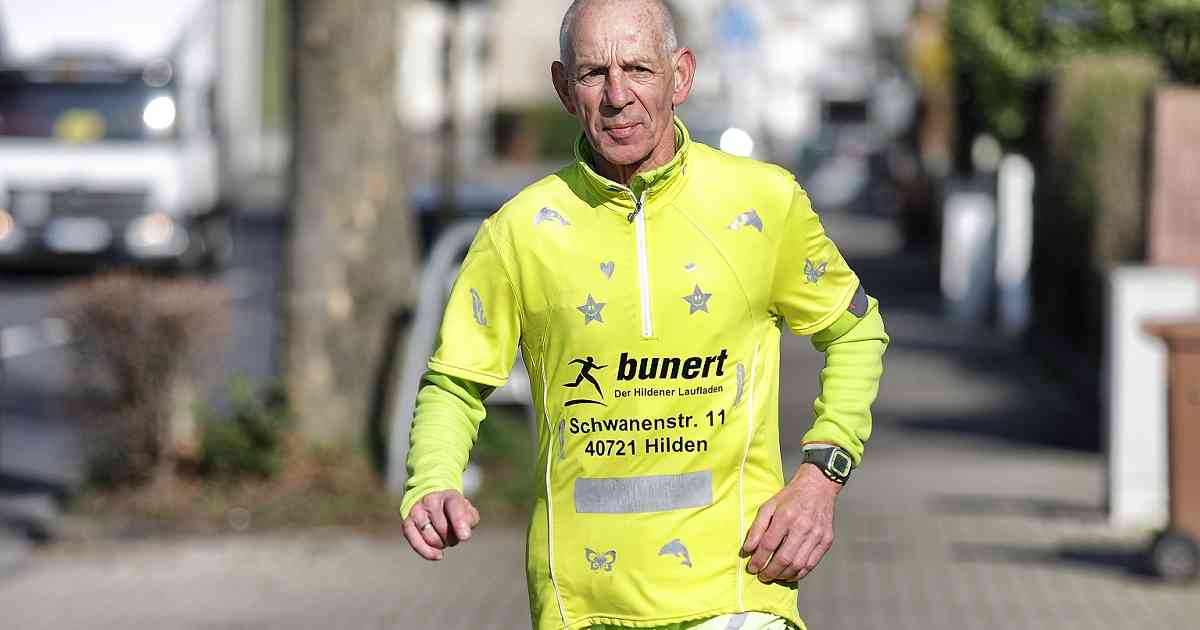 Bekanntes Gesicht in der Region: 69-Jähriger aus Hilden läuft jeden Tag 30 Kilometer