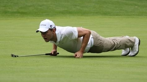 Heim-Challenge mit Promis: Golfprofi Kieffer hilft der WHO vom Sofa aus