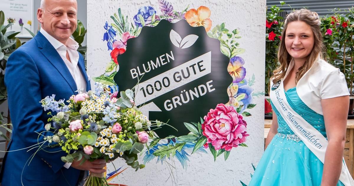 Repräsentantin des Gartenbaus in Straelen: Straelens neues Blumenmädchen bei Landgard empfangen