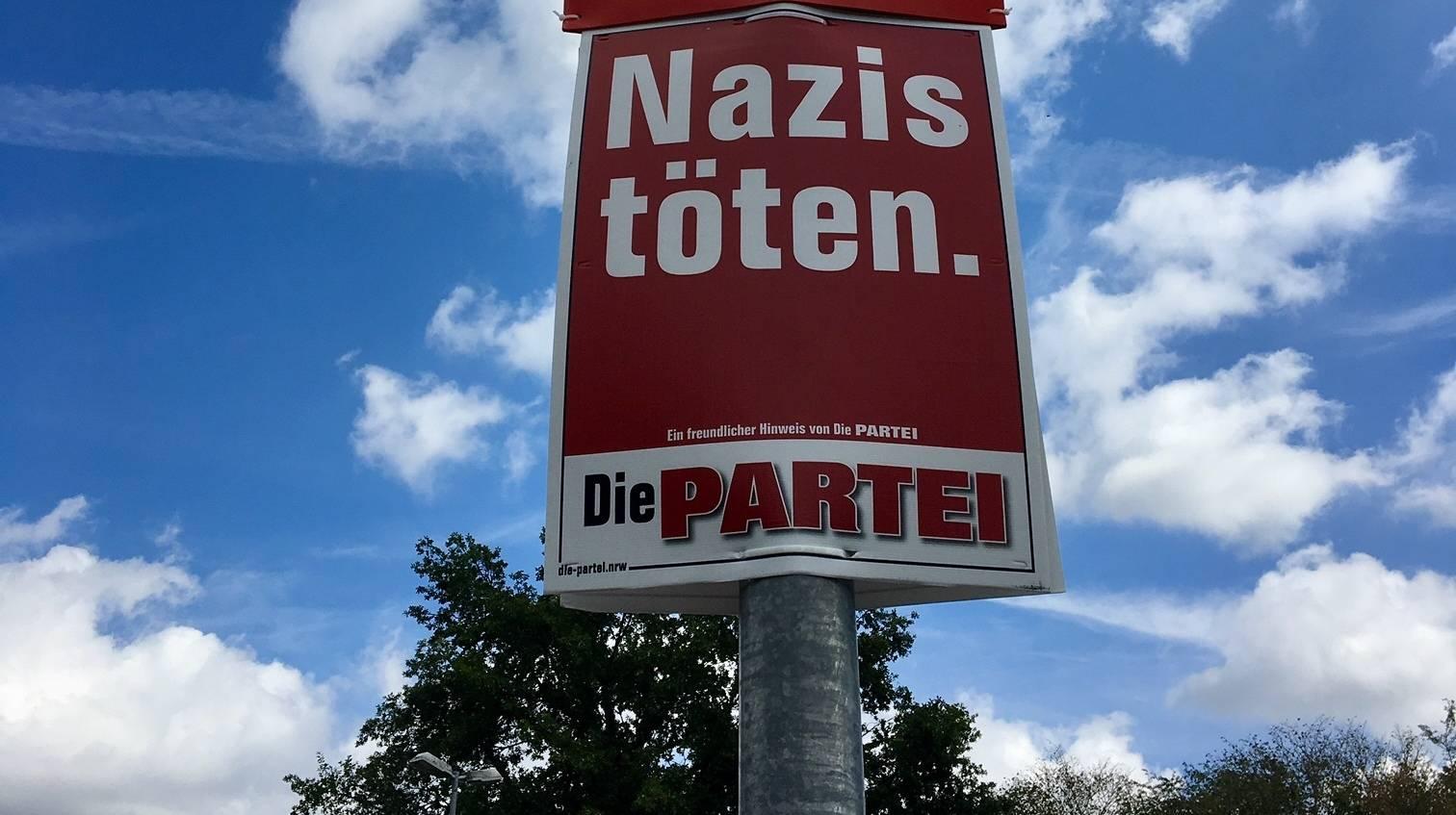 Wahlplakate Die Partei 2021