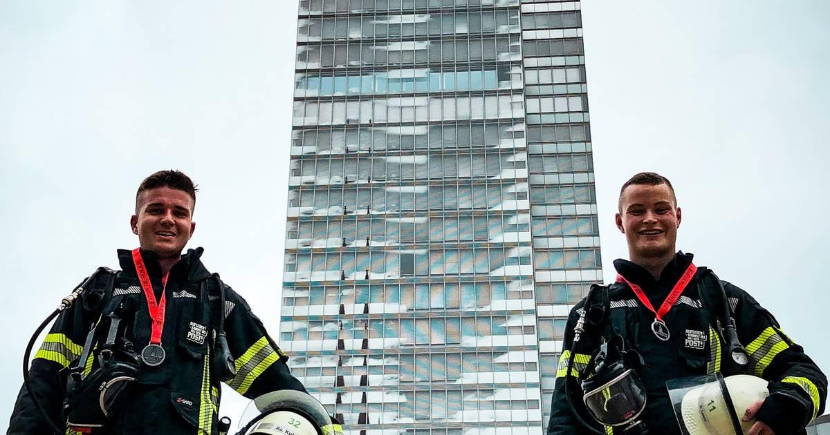 Hückelhoven: Feuerwehrmänner in Köln beim KölnTurm-Treppenlauf